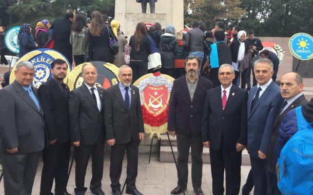 TEMAD Balıkesir İl Başkanlığı 10 Kasım Törenine Katıldı.