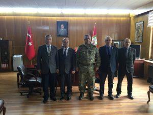 TEMAD ,Bakım,Mühimmat Okulu ve Eğitim Merkezi Komutanı Bakım Albay Mehmet GÜCÜ'yü ziyaret etti.